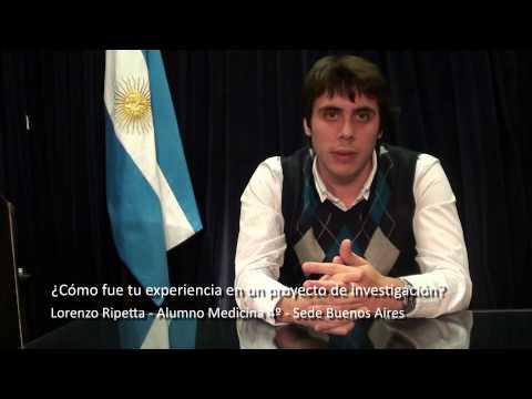 La importancia de investigar en Grado - Lorenzo Ripetta (Alumno Medicina)