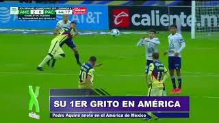 Pedro Aquino anotó su primer gol con el América