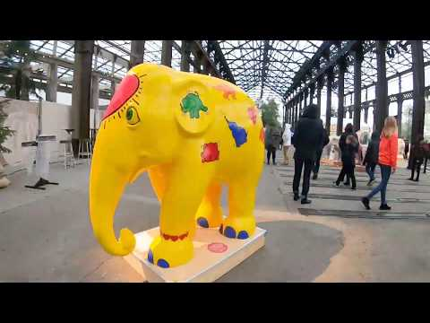 Elephant Parade Nantes - colourful elephant statues in France