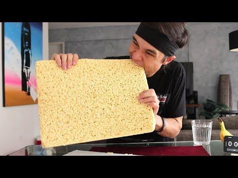 connectYoutube - GIANT Rice Crispy Treat Challenge! (3,840 Calories)
