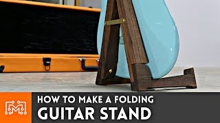 Folding Guitar Stand // Woodworking How To (RE-UPLOAD)