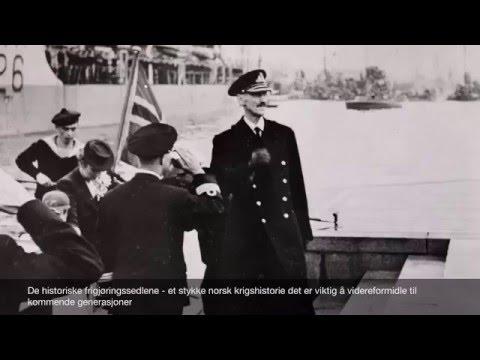 """Londonsedlene """"frigjøringssedlene"""" fra 2.verdenskrig gjenskapt og belagt med sølv"""