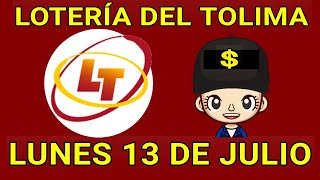 Resultados lotería del tolima 13 de Julio de 2020