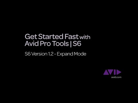 10. Get Started Fast with Avid Pro Tools | S6  -  v1.2 Expand Mode