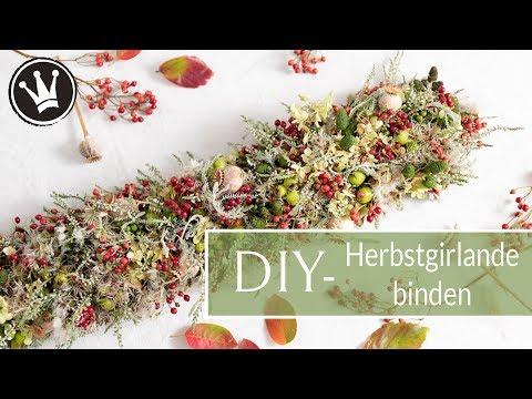 DIY – HERBSTDEKO aus Naturmaterial | GIRLANDE selber machen | Deko mit Lichterkette | DekoideenReich