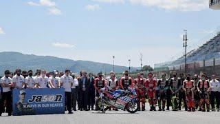 Le pilote suisse de moto3 Jason Dupasquier est décédé après un accident