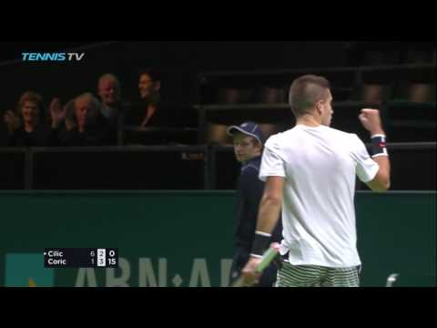 Coric Never Gives Up In Rotterdam 2017 Hot Shot