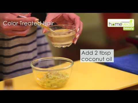 Natural Conditioner For Colored Hair| Hair Mask - Homeveda Remedies