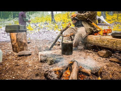 3 Days at a Semi Permanent Bushcraft Camp - Part 3