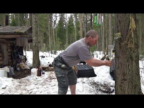 Жизнь в тайге  Один и надолго  Часть 10  В лесной избе  Лёд всё опаснее