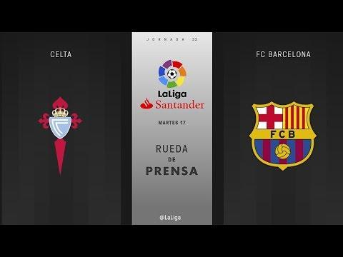 Rueda de prensa Celta vs FC Barcelona