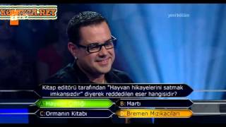 Kim milyoner olmak ister 233. bölüm 08.06.2013 1. yarışmacı