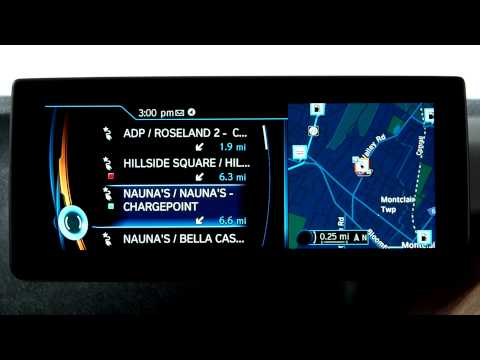 BMW i Navigation System: Charging Icon Display