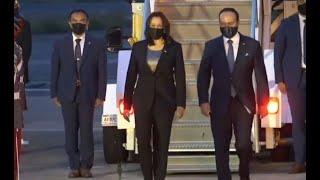 Así fue la llegada a Guatemala de la Vicepresidenta de Estados Unidos, Kamala Harris