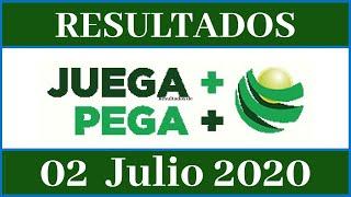 Resultados de la Lotería Juega Mas Pega Mas de hoy 02 de Julio del 2020