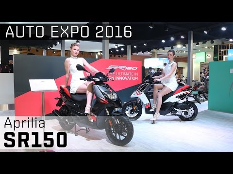 Aprilia SR150 :: 2016 Auto Expo WalkAround Video