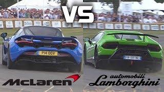 McLaren 720S vs. Lamborghini Huracan Performante SOUND Comparison – Which Sounds Better?!