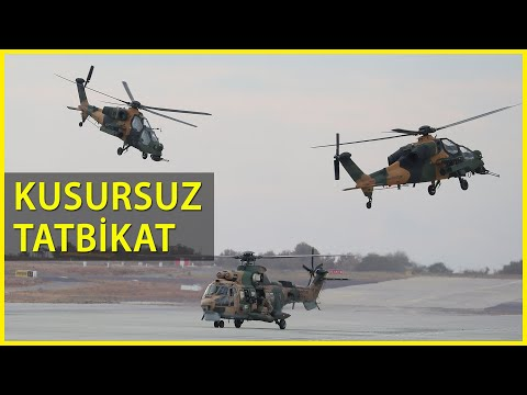 ATAK ve Cougar As 532 Helikopterlerinden Nefes Kesen Tahliye Tatbikatı