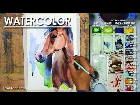 Watercolor Painting : How to Paint Horse