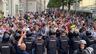 Москва: митинг поддержку