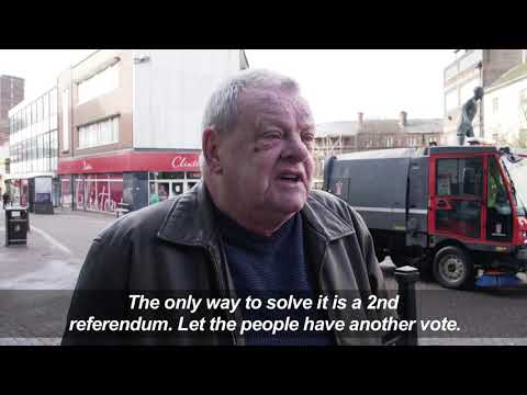 People in Stoke-on-Trent, UK react to Brexit deal vote