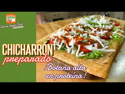 Chicharrón preparado ¡Deliciosa botana, alta en proteína! - Cocina Vegan Fácil