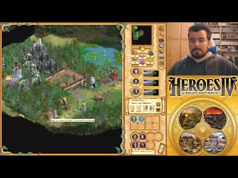 HEROES OF MIGHT AND MAGIC 4 (PC) - El cambio de dirección de la saga || GAMEPLAY en Español