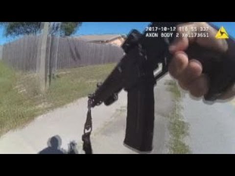 Dramatic bodycam footage from shootout with gunman released