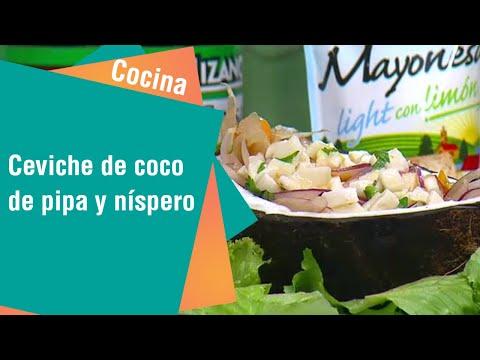 Receta de Secretos de Cocina de Unilever: Ceviche de coco de pipa y níspero