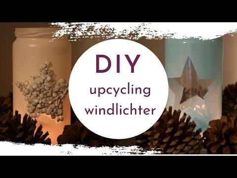 DIY 2 Varianten Windlichter aus Altglas einfach selber machen - Advent✨