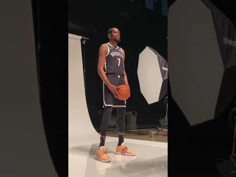 POV of KD's Nets #NBAMediaDay 👀 | #Shorts