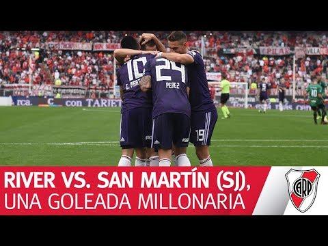 Mirá lo mejor de River vs. San Martín de San Juan