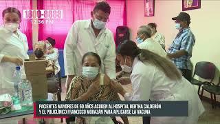 Policlínico Morazán y Hosp. Bertha Calderón aplican dosis de vacunas - Nicaragua