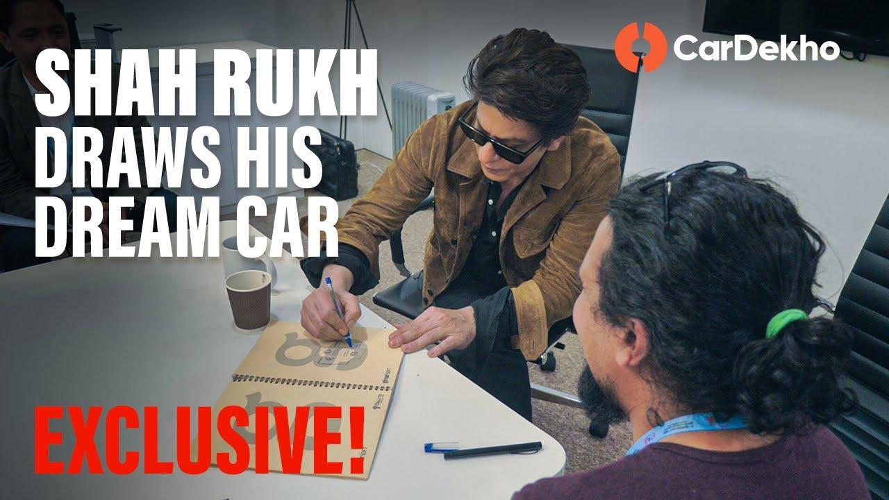 the shah rukh khan interview!   from the ಹುಂಡೈ ಸ್ಯಾಂಟೋ ಗೆ sketching his dream car   ಕಾರ್ಡೆಖೋ.ಕಾಮ್