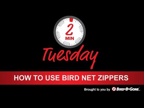 How to use Bird Net Zippers