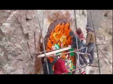 Great spiritual rock carving in Tibet