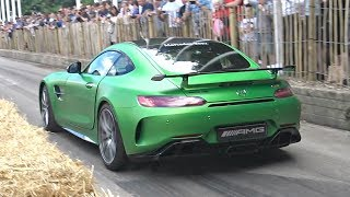 Mercedes AMG GT R  Exhaust Sounds! – Accelerations, Revs, Donuts  More!