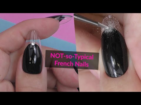 How to : Clear Gel Nails & French style art
