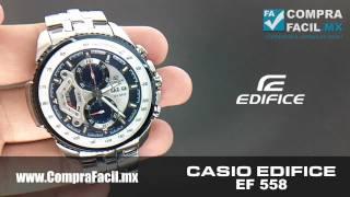 705c96200585 Reloj Casio Edifice EF 558 - CompraFacil.mx - YouTube