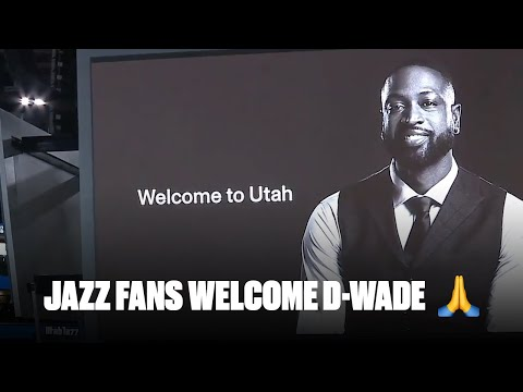 Dwyane Wade Gets Introduced To Utah Jazz Fans After Joining Ownership Group