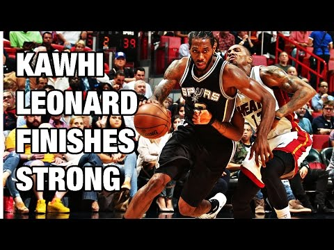 Kawhi Leonard Connects for 27 Points and 6 Assists in Miami