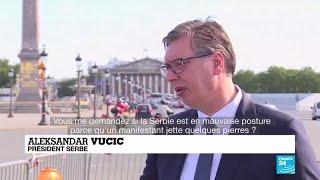 Manifestations en Serbie : Aleksandar Vucic réagit depuis la France
