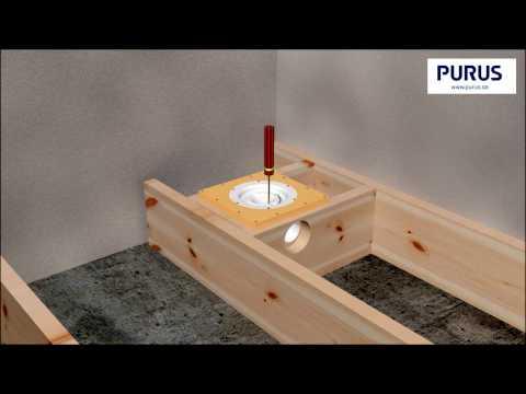 Installationsfilm för Purusplattan i träbjälklag