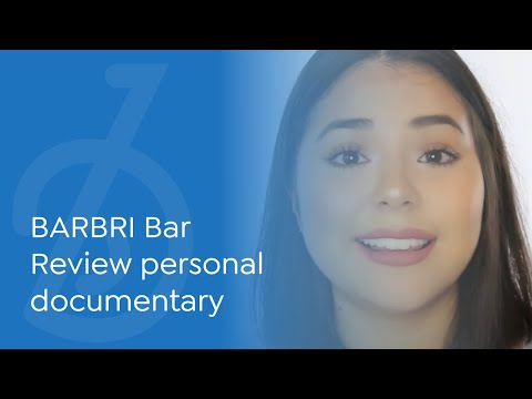 Student testimonial: BARBRI Bar Review -- making an informed, comfortable choice.