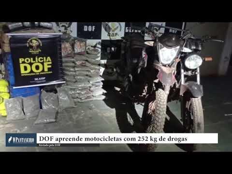 DOF apreende motocicletas com 252 kg de drogas