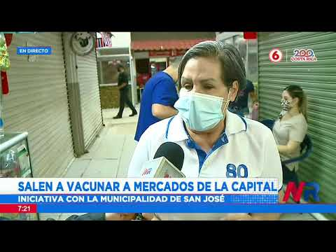 Funcionarios salen a vacunar a mercados de la capital