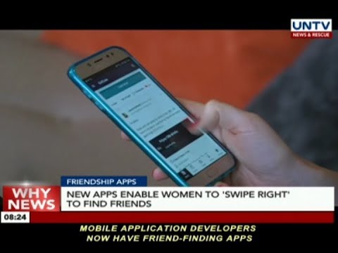 New apps enable women to 'swipe right' to find friends