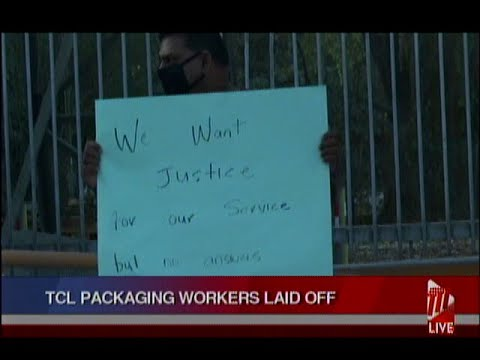 Retrenched TCL Packaging Workers Protest For Severance Packages