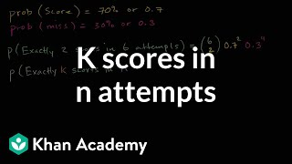 Generalizing k scores in n attempts