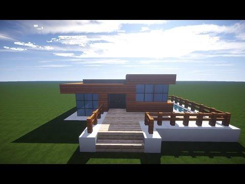 Minecraft Spielen Deutsch Minecraft Modernes Haus Bauen Anleitung - Minecraft hauser zum nachbauen fur anfanger deutsch